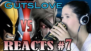 Gutslove REACTS #7 DeathBattle: Wolverine vs Raiden