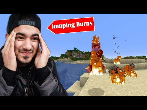 Minecraft But You Jump You Burn