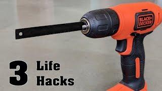 3 Amazing Life Hacks of Hacksaw !