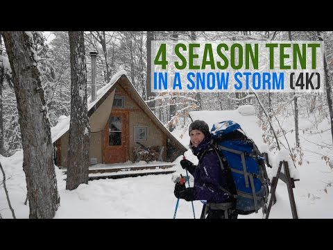 Xxx Mp4 WINTER CAMPING IN A 4 SEASON TENT DURING A SNOW STORM 4K DAY 1 3gp Sex