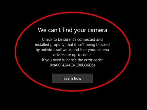 Fix We can t find your camera Error code 0xA00F4244 0xC00D36D5 in Windows 10