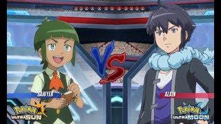 Pokemon Battle USUM: Sawyer Vs Alain (Pokémon Kalos League)