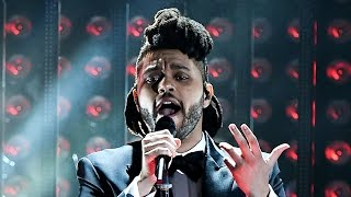 The Weeknd Ignites Grammys 2016 Stage With Song Medley