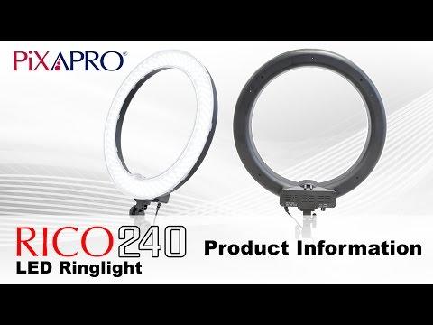 PIXAPRO RICO240 Daylight Balanced LED Ring Light