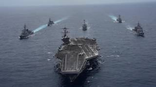 USS Carl Vinson SF Leads Japan Maritime SDF Destroyers