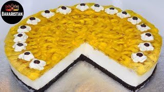 EASY No Bake Oreo Jelly Cheesecake! // طرز تهیه چیز کیک / کیک پنیر بدون پخت