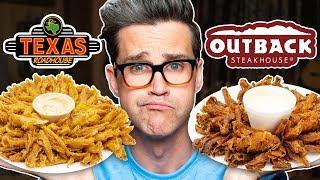 Texas Roadhouse vs. Outback Steakhouse Taste Test | FOOD FEUDS