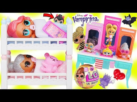 Xxx Mp4 LOL Surprise Dolls FAKE Lil Sisters Treasure Morning Routine For Barbie House 3gp Sex