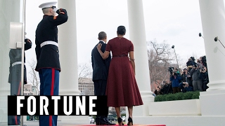 The Obamas Say Goodbye on Twitter