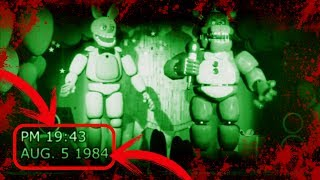 GRABACIÓN DE 1984 Y 1992 DE FREDDY FAZBEAR PIZZA | Vídeos antiguos de five nights at freddy's