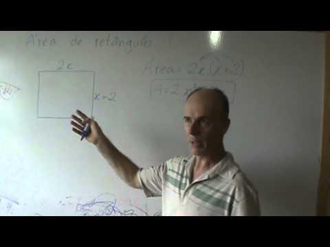 Geometria Área de um retângulo com expressão algébrica