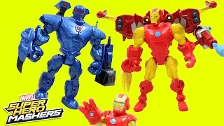 Marvel Super Hero Mashers Iron Man Vs Iron Monger Mash Pack Iron Man Team!!