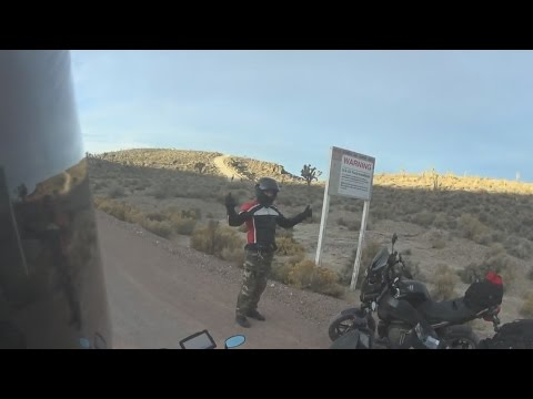 Area 51 Line Crossed by Bikers - FindingUFO
