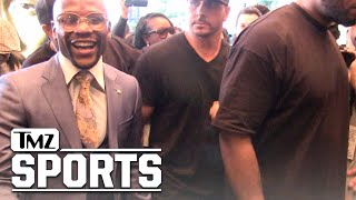 FLOYD MAYWEATHER -- $300 MILLION SMILE After Fight Announcement | TMZ Sports