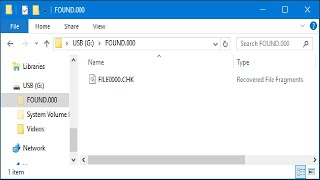 What Are the FOUND.000 Folder and FILE0000.CHK File in Windows?