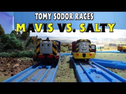 Tomy Sodor Races Mavis vs Salty Race 4