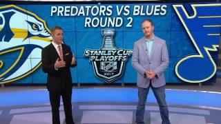 Preds Set To Face Blues In 2nd Round Of Playoffs