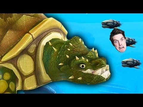 GIANT KILLER TURTLE Feed and Grow Fish
