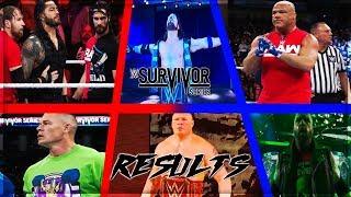WWE SURVIVOR SERIES 2017 FULL SHOW RESULTS (WWE SURVIVOR SERIES 2017 RESULTS) #TEAMRAW