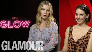 Alison Brie & Glow Cast Play 80s This or That? | Glamour UK