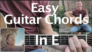 GUTAR CHORDS IN THE KEY OF E