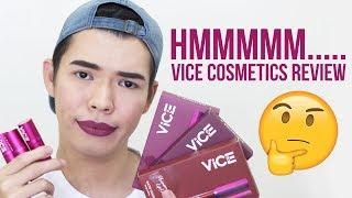 HMMM... VICE COSMETICS REVIEW! | Phenomenal Lip Kit & Good Vibes Lipstick | Kenny Manalad