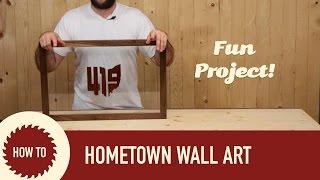 Hometown Wall Art on Glass
