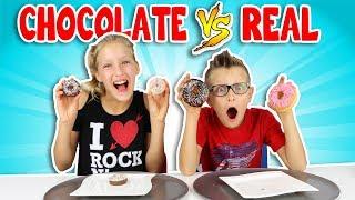 CHOCOLATE vs REAL 3!!!!!!!!