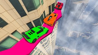 CROSS THE DEADLY BUILDING LEDGE! (GTA 5 Funny Moments)