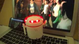 BERO dancing to -  wish I had a robot by dog bus