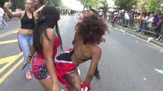 BEAUTIFUL TRINIDAD AND OTHER CARIBBEAN GIRLS WHINE TWERK AND DANCE WITH SOCA MUSIC AT CARNIVAL 2016