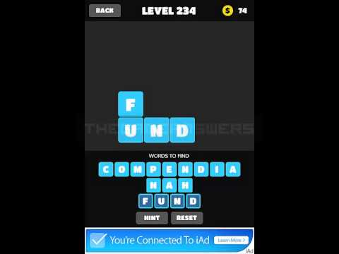 Word Crush - Word Search Brain Puzzles Level 231-240 Answers