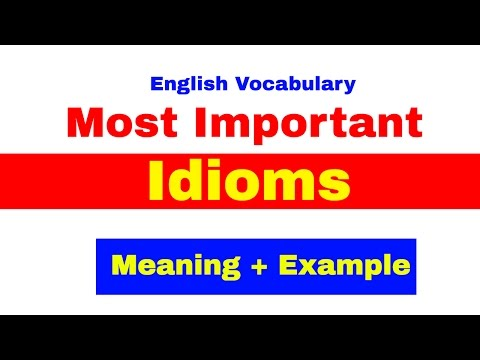 watch Most Important idioms with Meaning and Example for Bank PO | SBI | IBPS | CAT [ In Hindi] Part -1