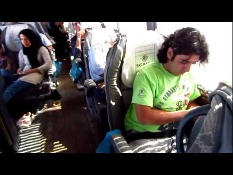 Yazd to Tehran Bus 7 Hours Driving Travel to Iran 2012 Go Backpacking Trip to Persia