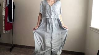 Thrifted Refashion Blue Summer Dress