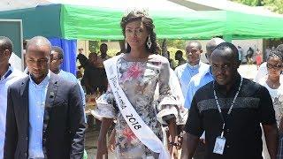 VIDEO:Miss Tanzania alivyogusa ardhi ya Chuo anachosoma tangu ashinde Taji