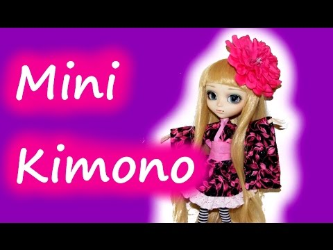 How to make a Mini Kimono for Dolls Tutorial DIY