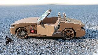 How to make RC Car(BMW Z4) - Amazing Cardboard DIY