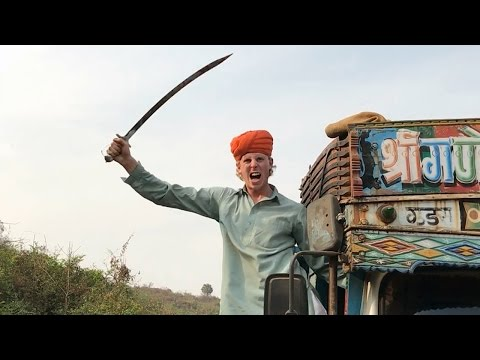 Punjabis in traffic... | 2 Foreigners In Bollywood