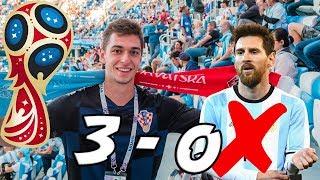 CROATIA VS ARGENTINA 3-0!!! - Russia World Cup Vlog #3