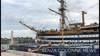 Nave Vespucci attracca nel porto di Brindisi