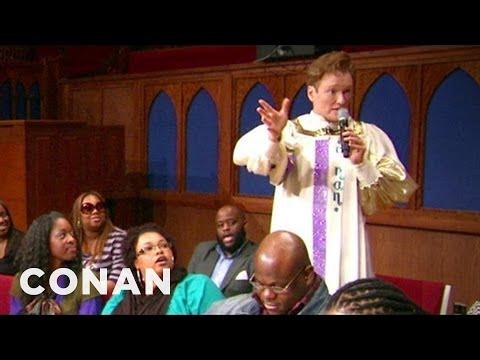 Conan Joins A Southern Baptist Choir CONAN on TBS