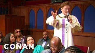 Conan Joins A Southern Baptist Choir - CONAN on TBS