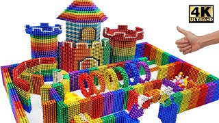 DIY - How To Build Castle Maze For Hamster From Magnetic Balls (Satisfying) | Magnet World Series
