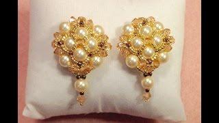 Pearl Button Earrings Tutorial