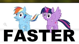 """GO FASTER - Pony Girl But every time she said """"fly or flying"""" i'ts going 5 % Faster"""