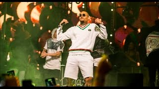 Chris Brown dances to Future 'Mask Off'