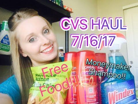 CVS HAUL 7/16/17-7/22/17 MONEYMAKER SHAMPOO & FREE FOOD!!!!