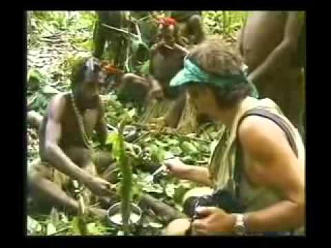 Isolated tribe man meets modern tribe man for the first time Original Footage full