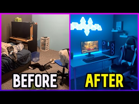 Transforming My Bedroom Into My Dream Gaming Setup NOT CLICKBAIT